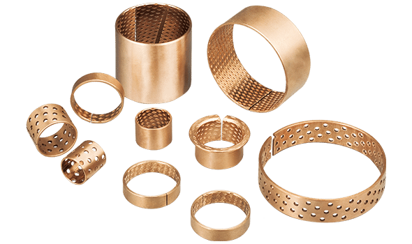 wrapped lubricating bronze bushing