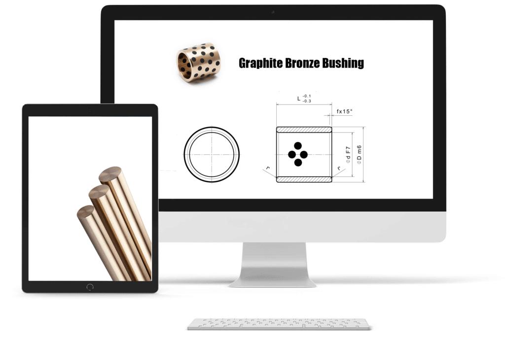 graphite bronze oilless bushing